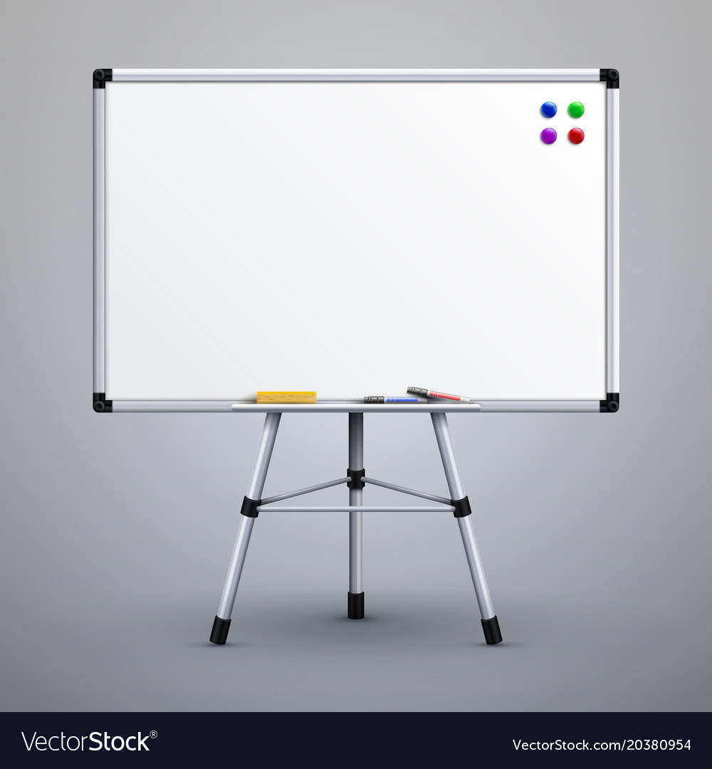 office presentation whiteboard on tripod blank vector image