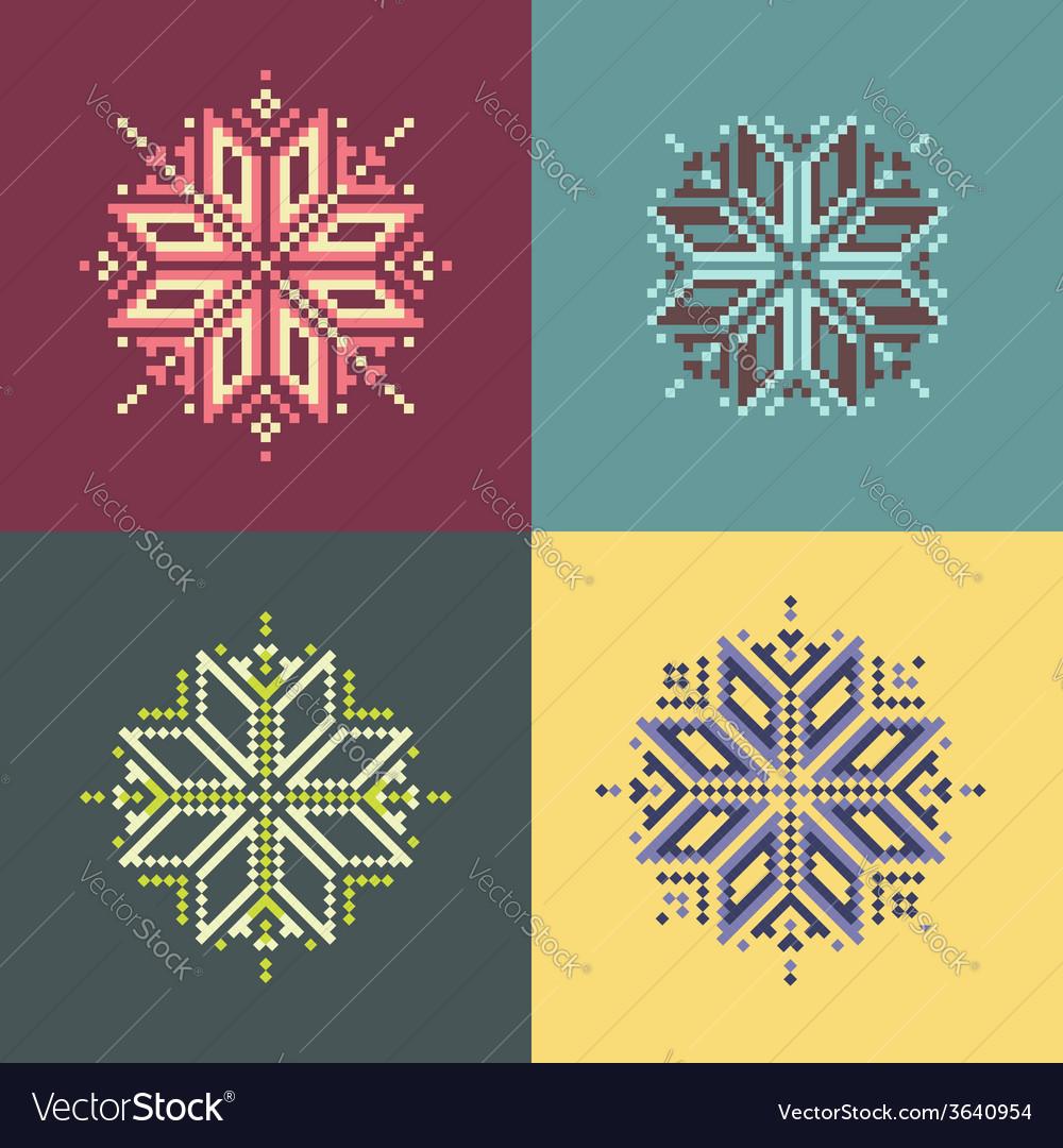 Pixel snowflakes
