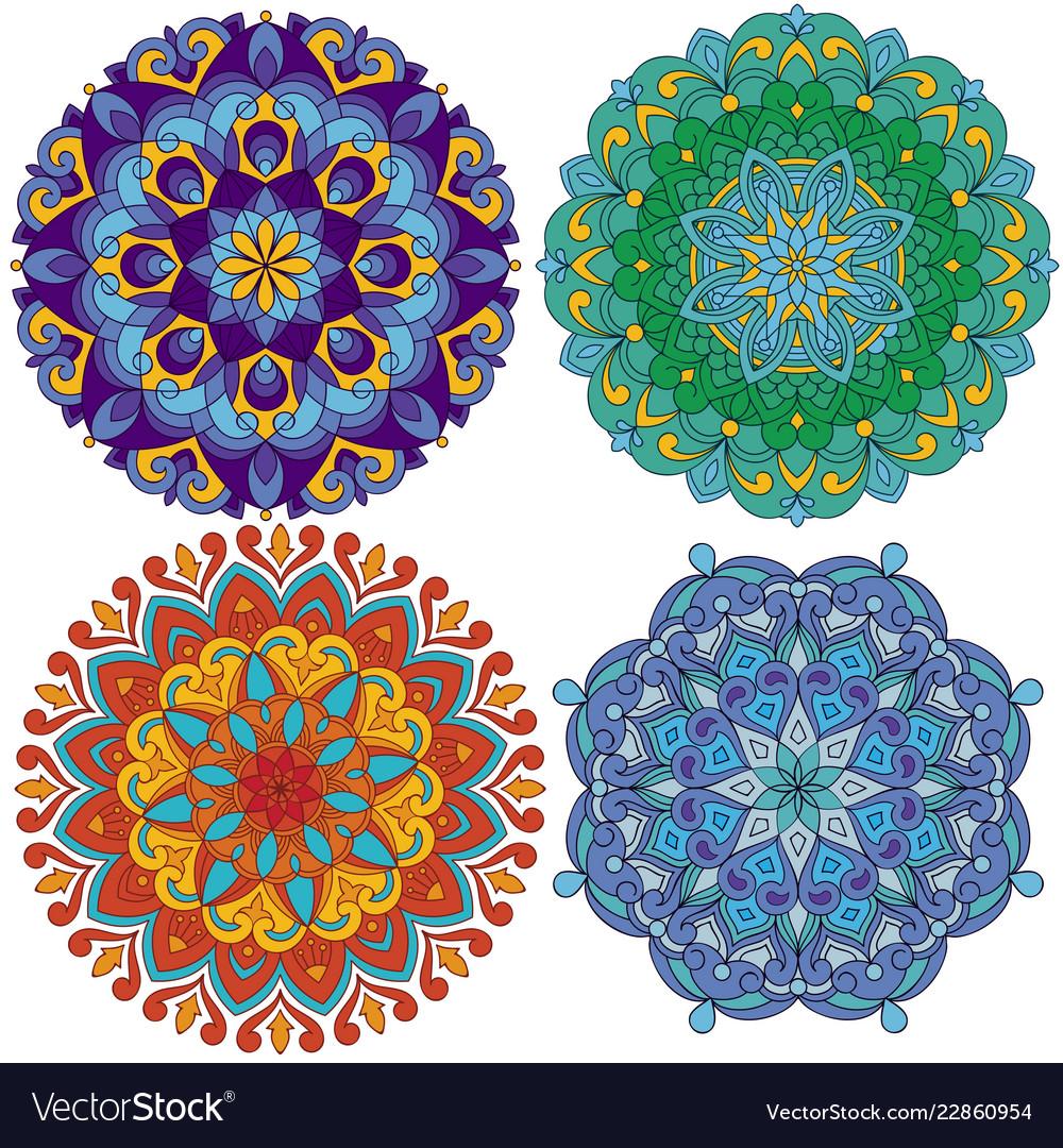 Set of 4 mandalas