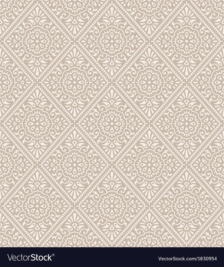 Traditional Floral Wallpaper Royalty Free Vector Image