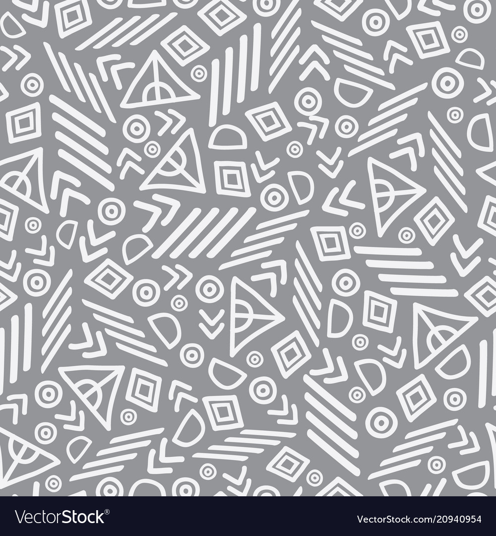 Tribal abstract seamless repeat pattern