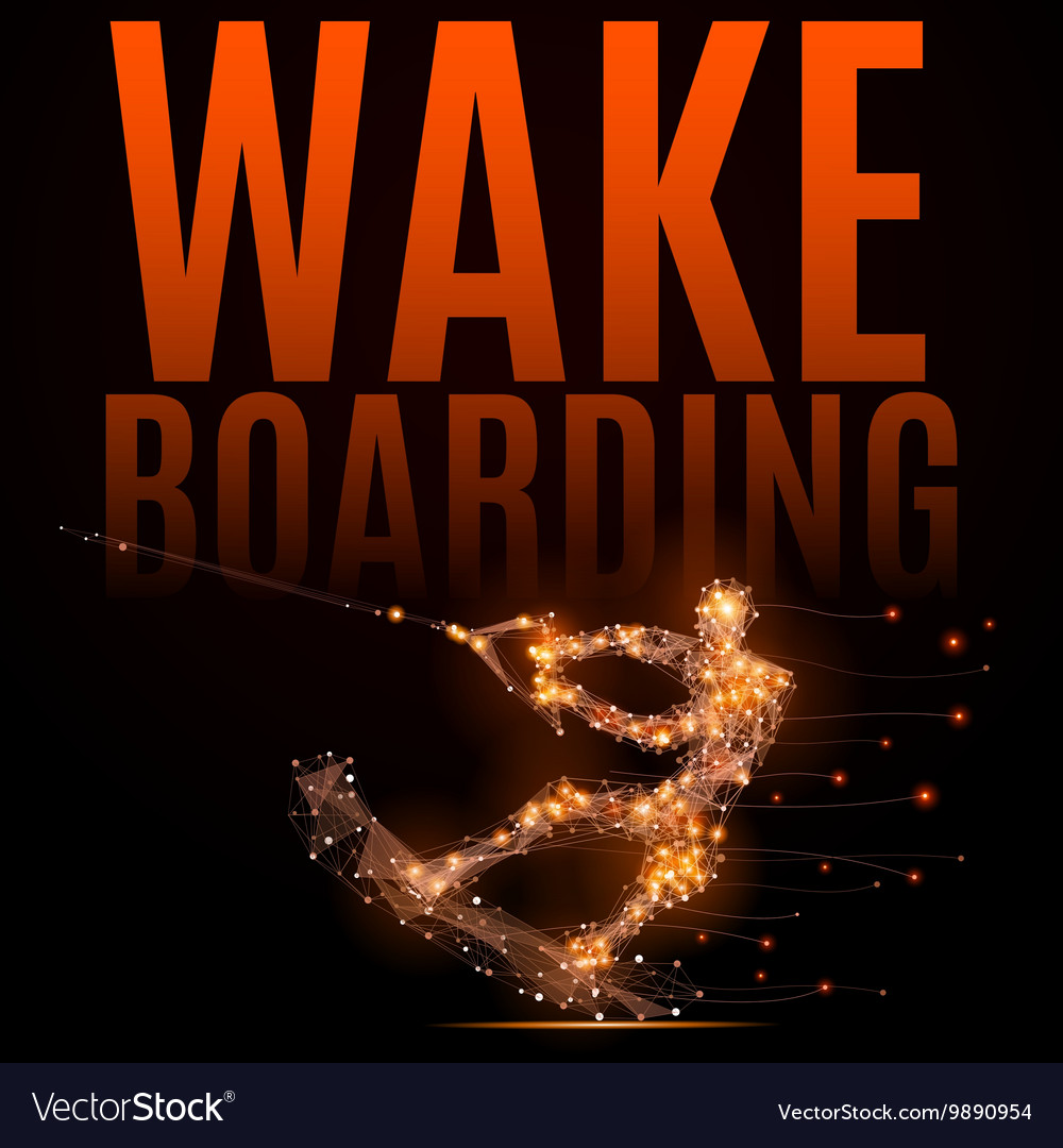 Wakeboarding athlete poly