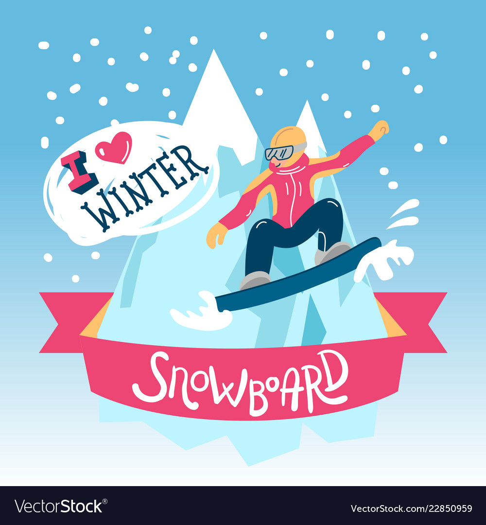 Beautiful flat winter sport