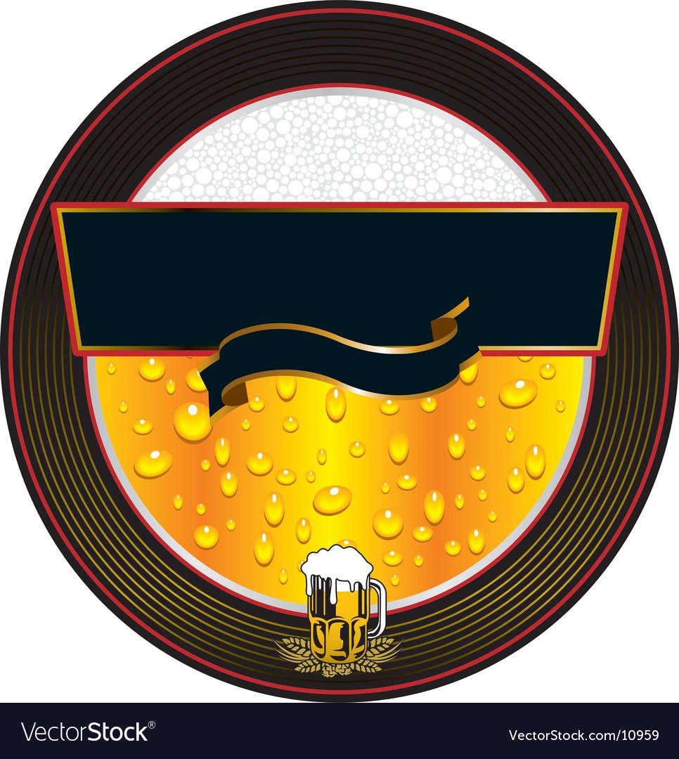 Beer fresh label vector image