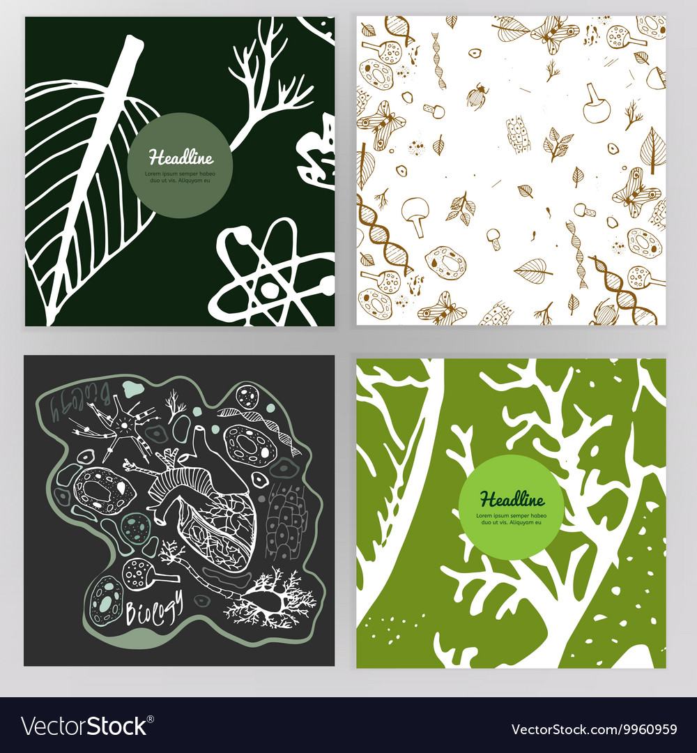 Biology Brochure Design vector image