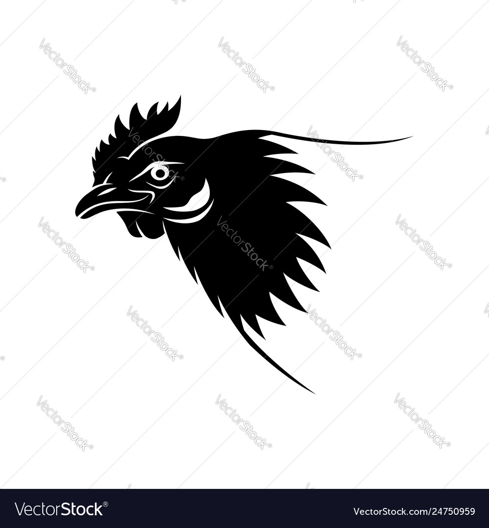 Black chicken sign