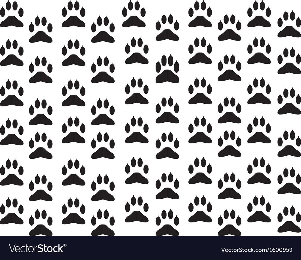 Dog foot print background