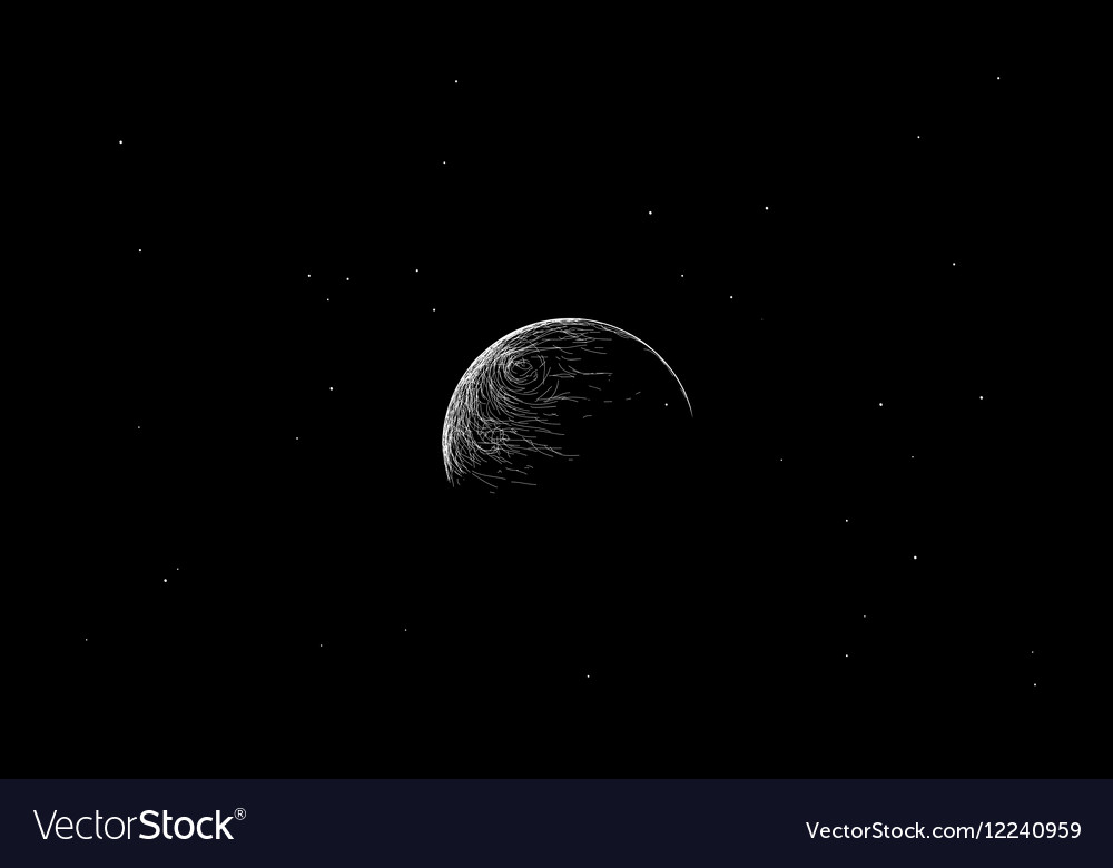 Earth in outer space vector image