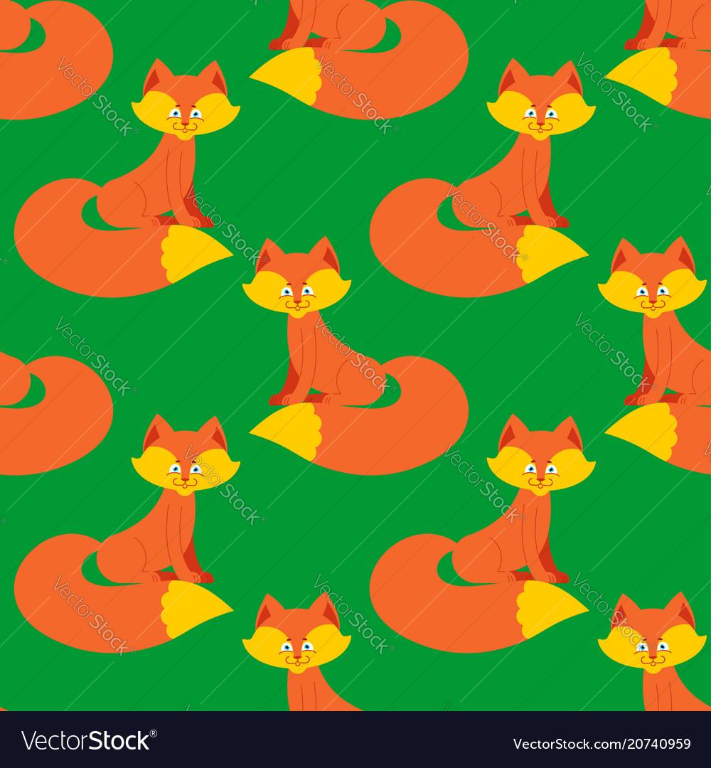Fox pattern cute wild animal background beast