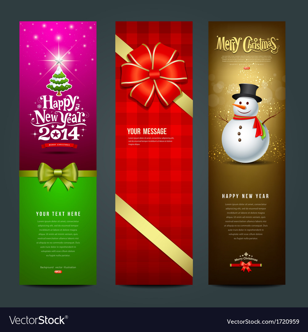 Happy New Year 2014 banner design collections