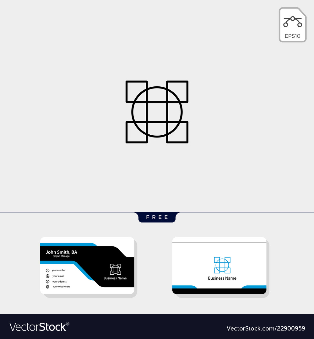 Line art geometric logo template free business