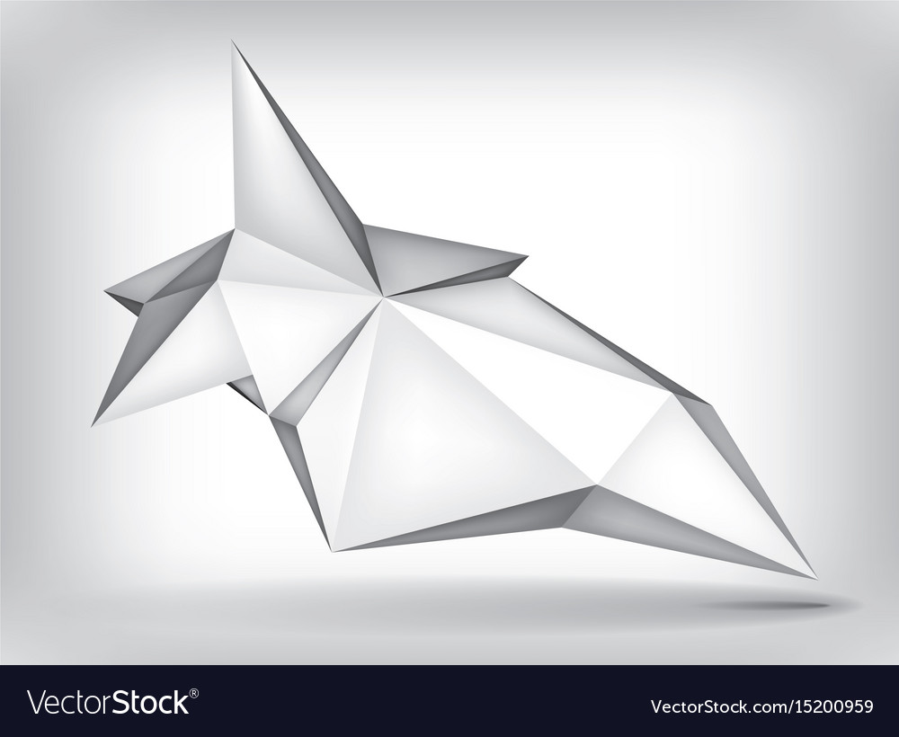 volume geometric shape 3d levitation crystal vector image