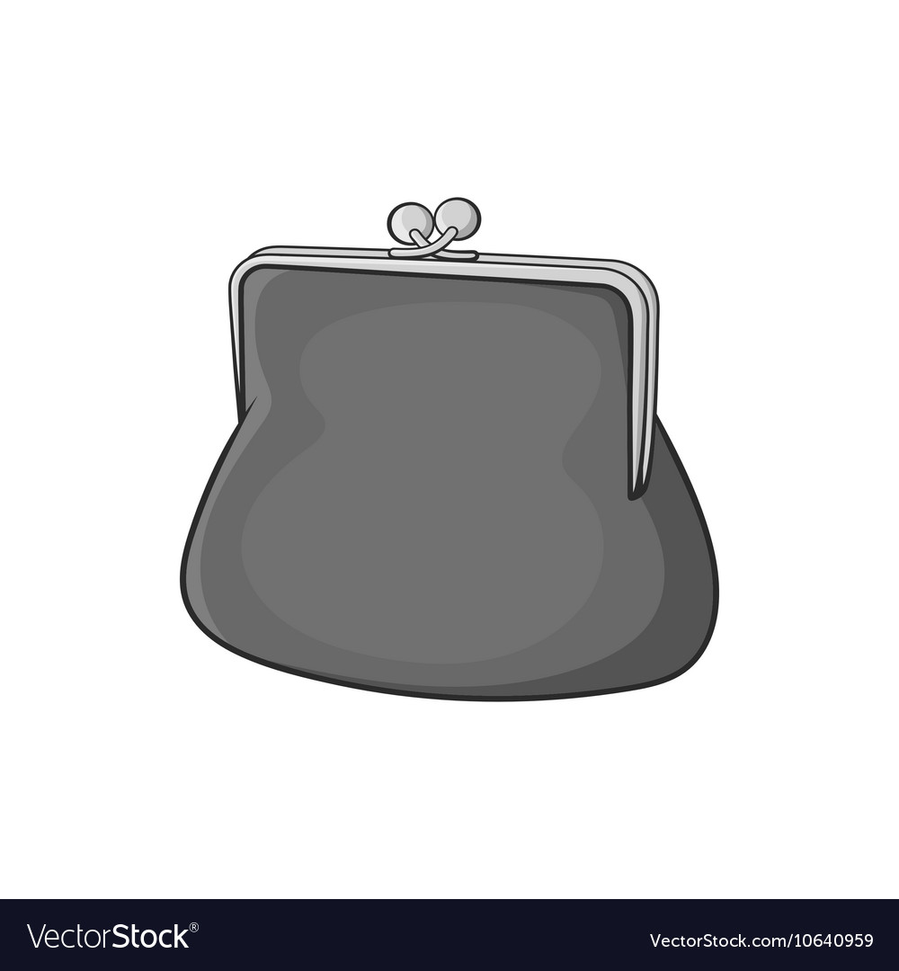 Womens wallet icon black monochrome style