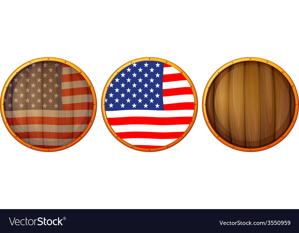 Wooden US icons