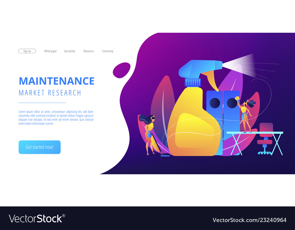 Commercial cleaning concept landing page