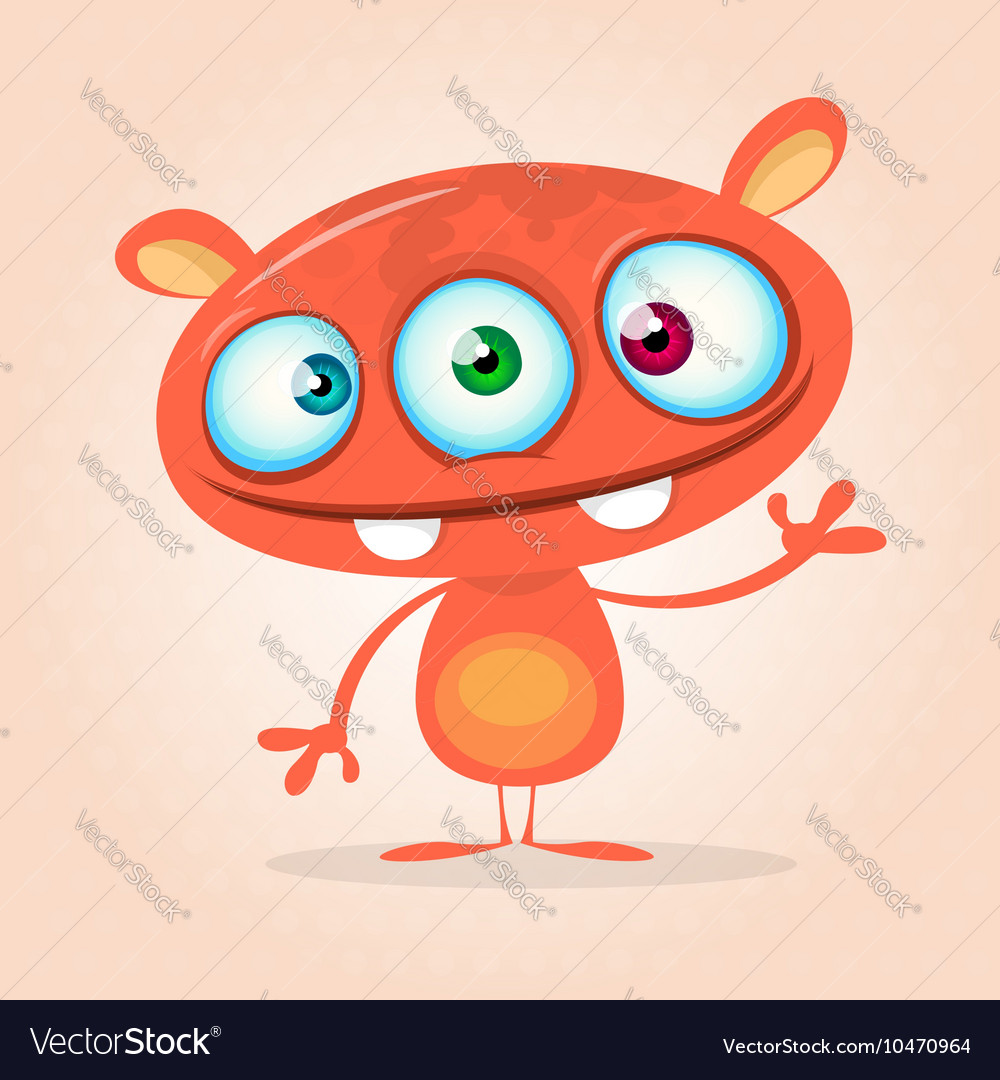 Cute cartoon monster alien