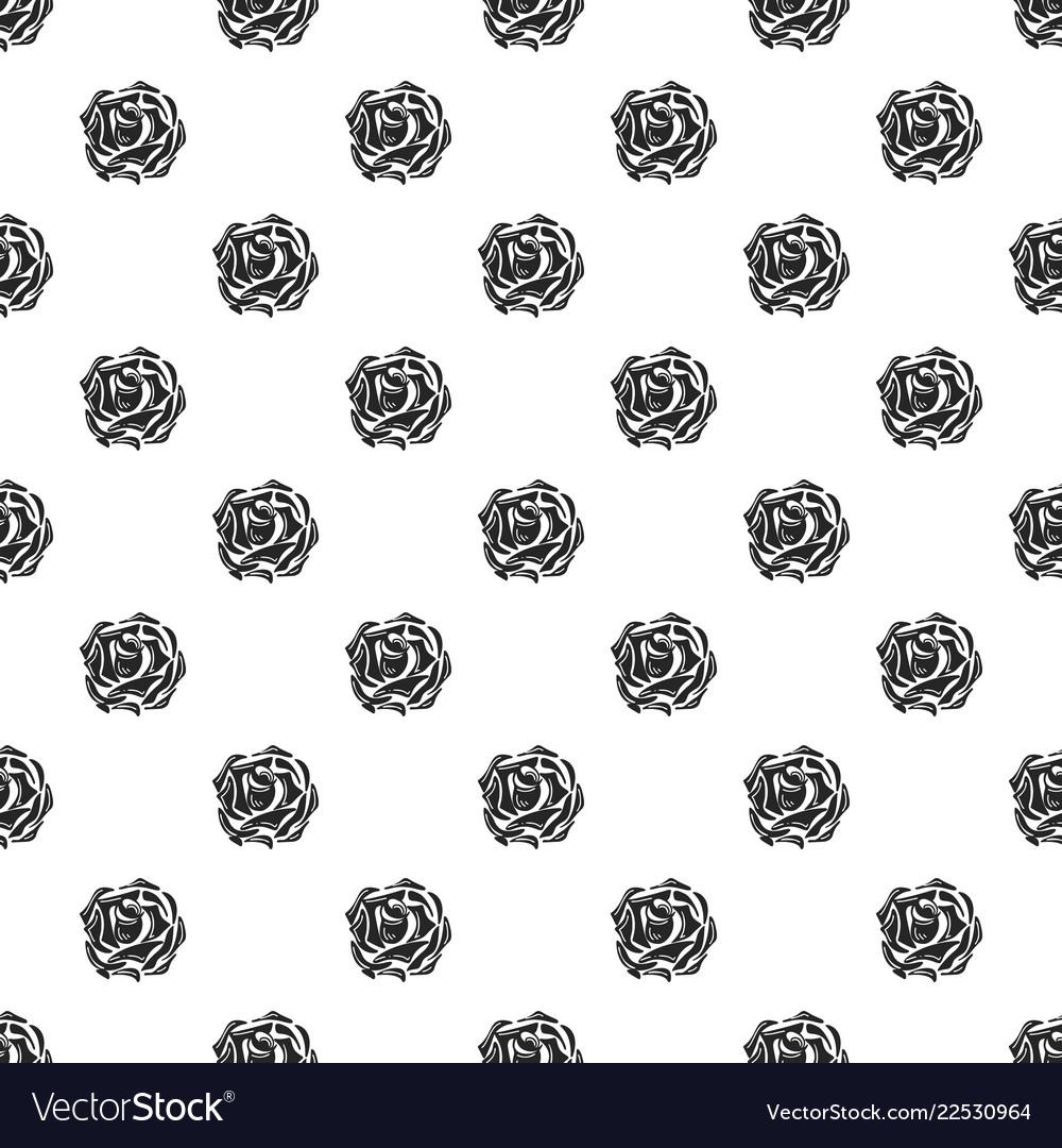 Daisy rose pattern seamless
