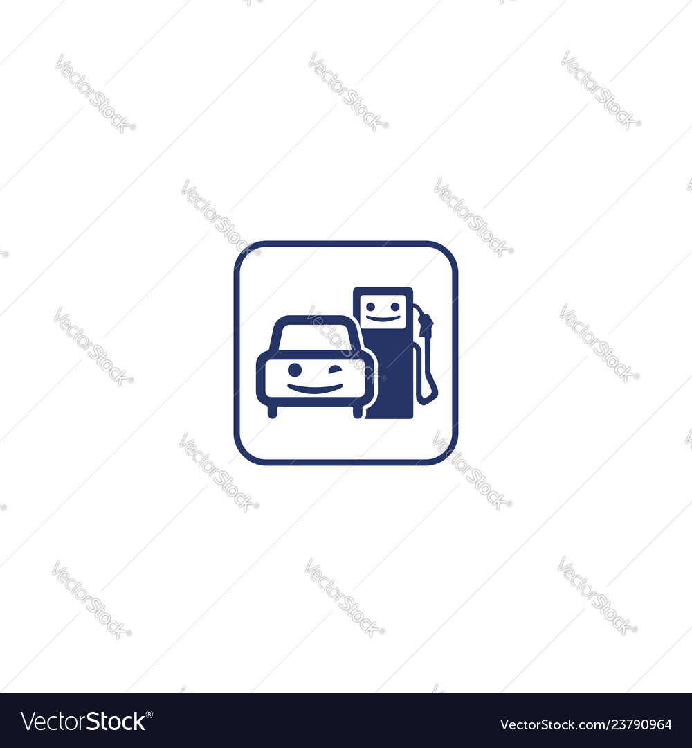 Happy-car-gas-station-logo