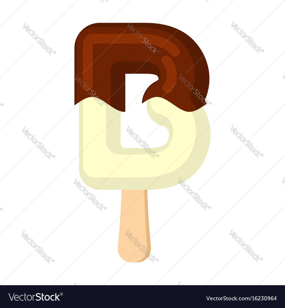 Letter b ice cream font popsicle alphabet cold