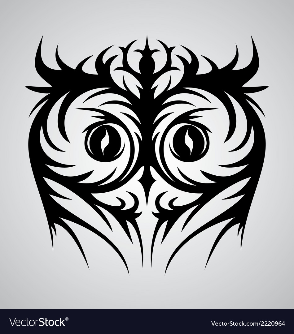 Owl Face Tribal Royalty Free Vector Image Vectorstock
