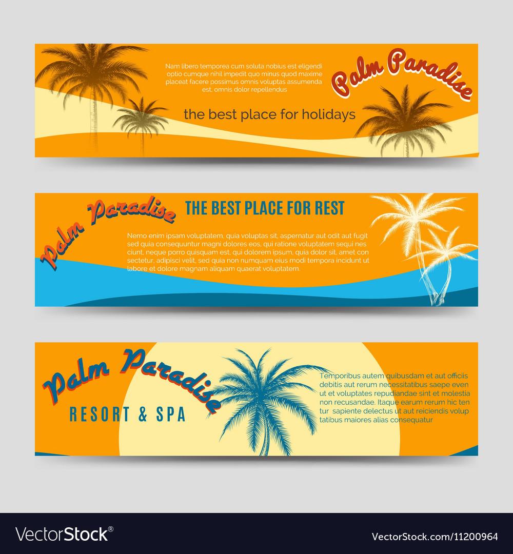 Palm Paradise banners set