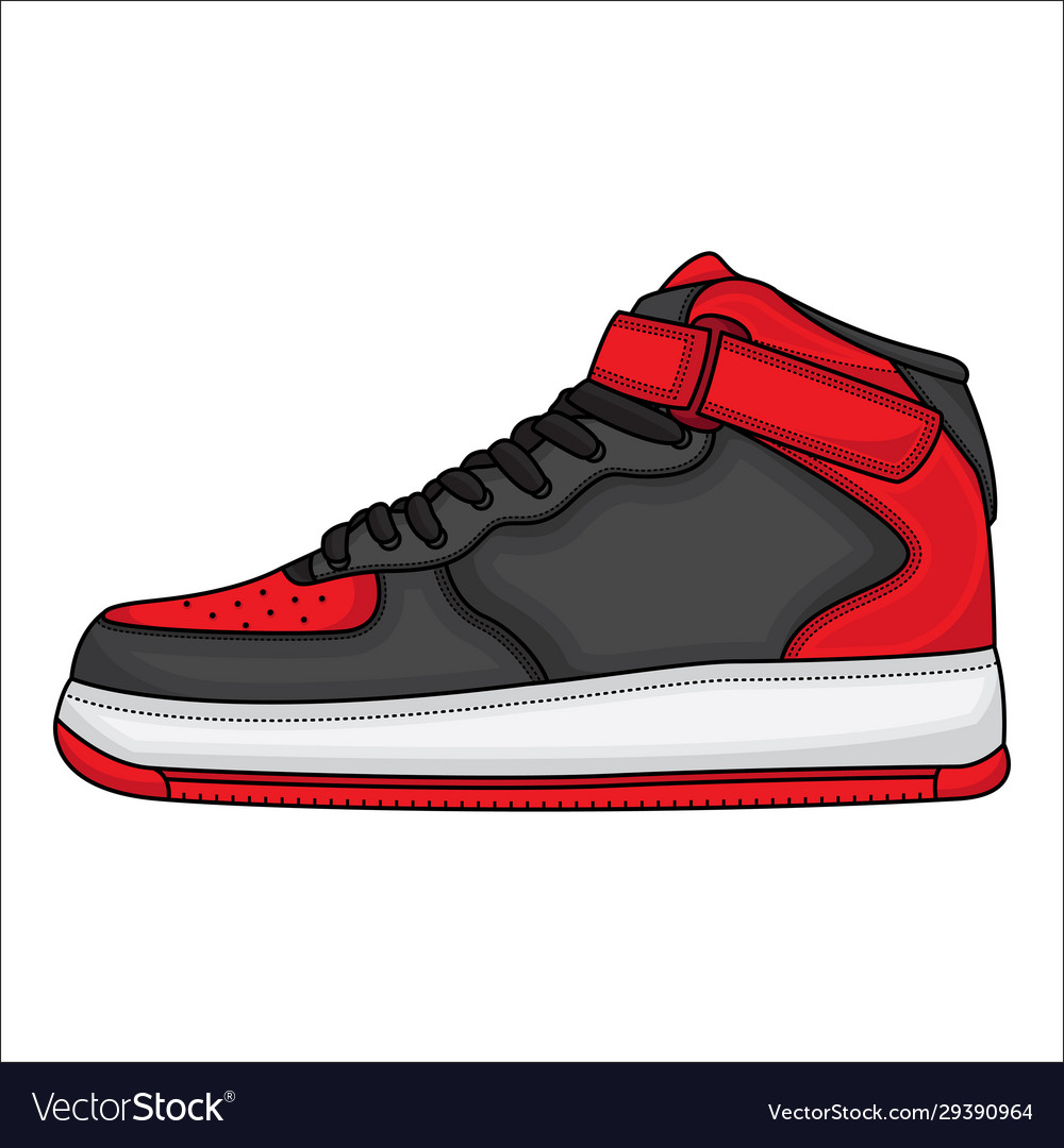 Red basketball shoe design