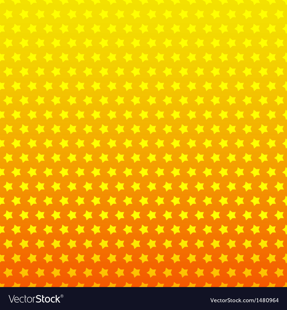 Star seamless background Yellow and orange color vector image