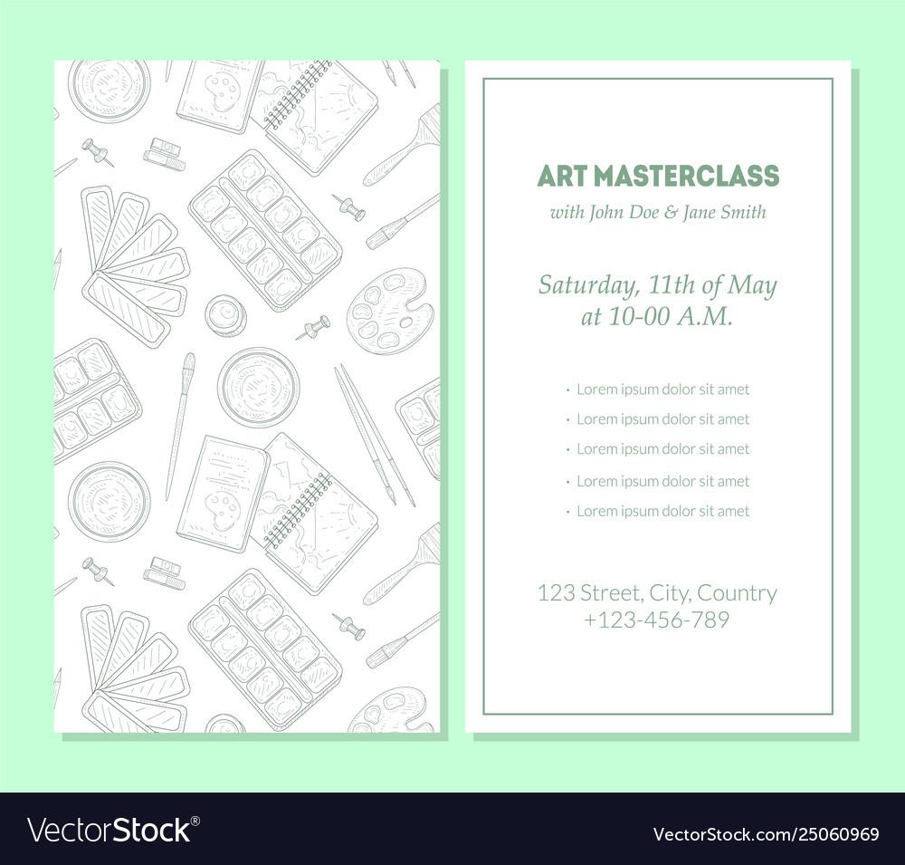 Art masterclass banner template painter tools