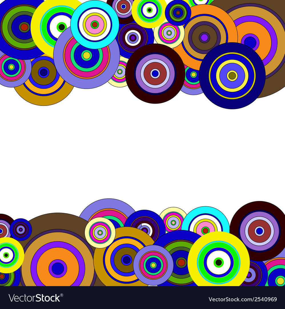 Circles colorful pattern