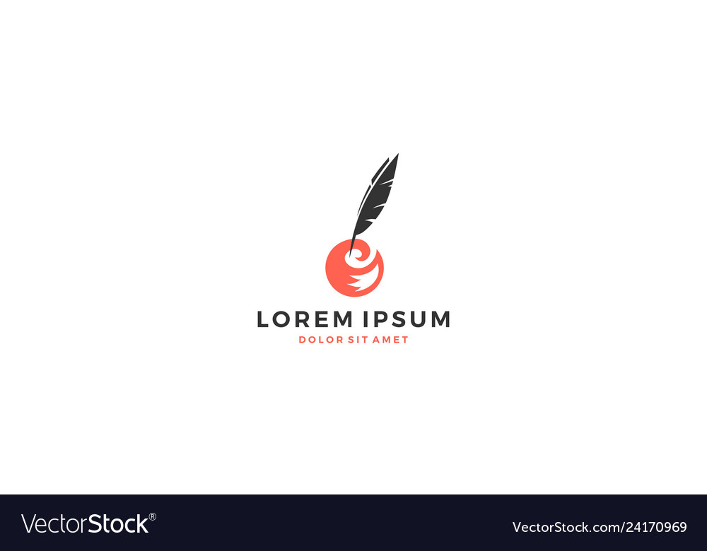 Fox tail feather ink logo writer writing download