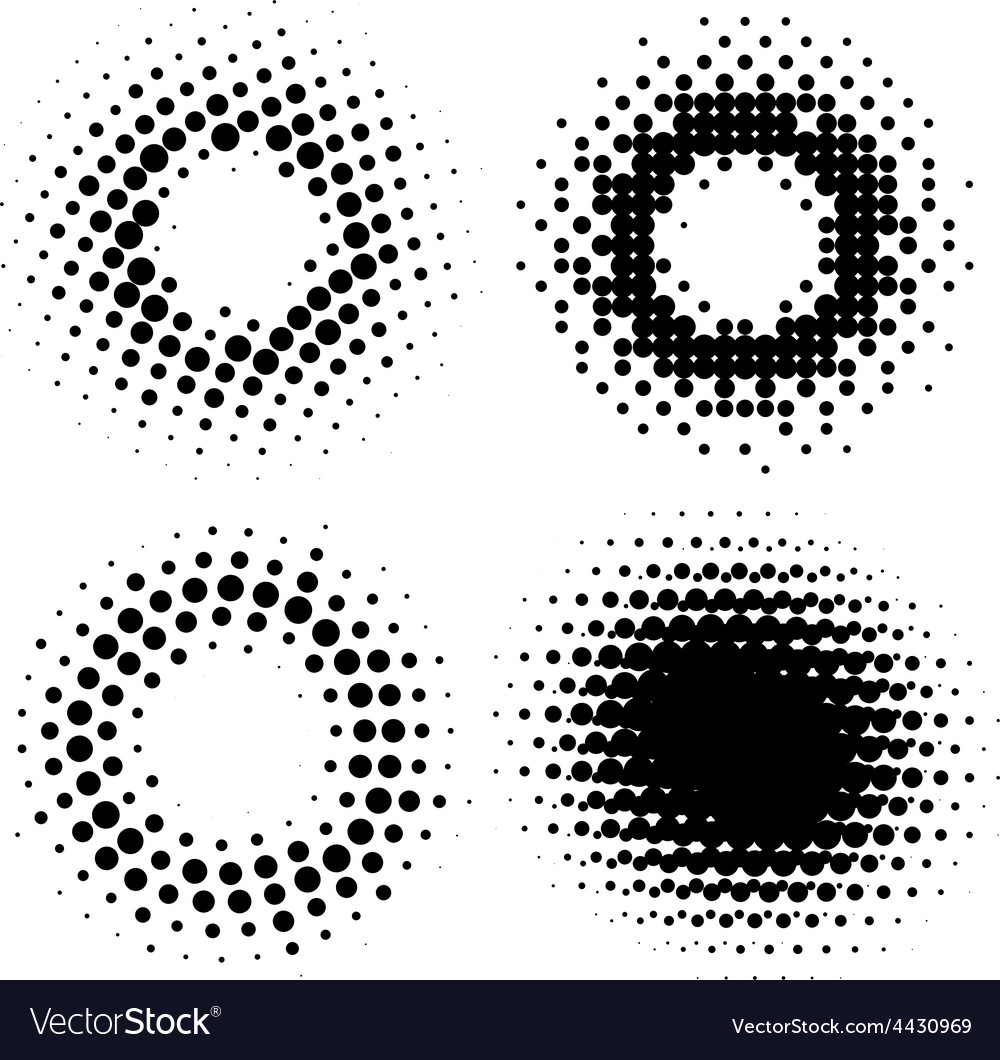 Halftone Radial Elements vector image