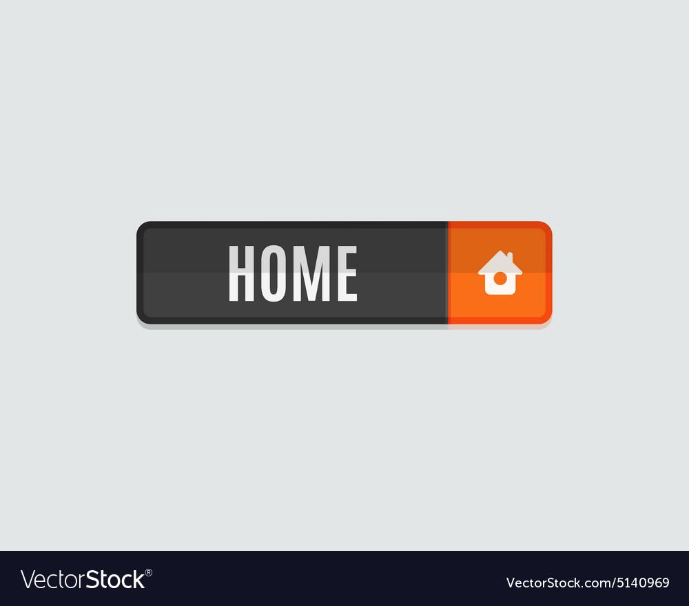 Home web button flat design