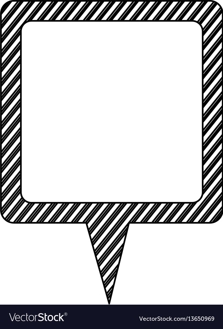 Silhouette chat bubble icon