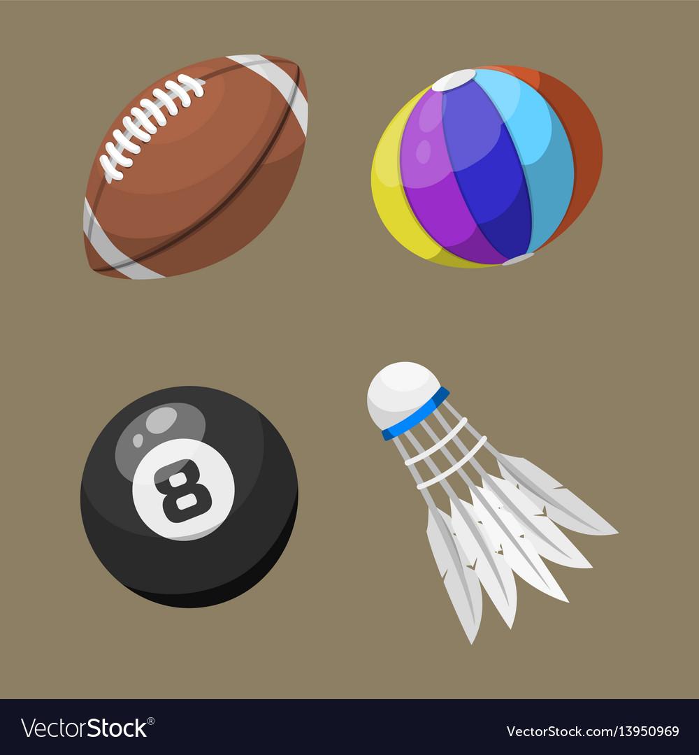 Sport balls isolated tournament win round basket