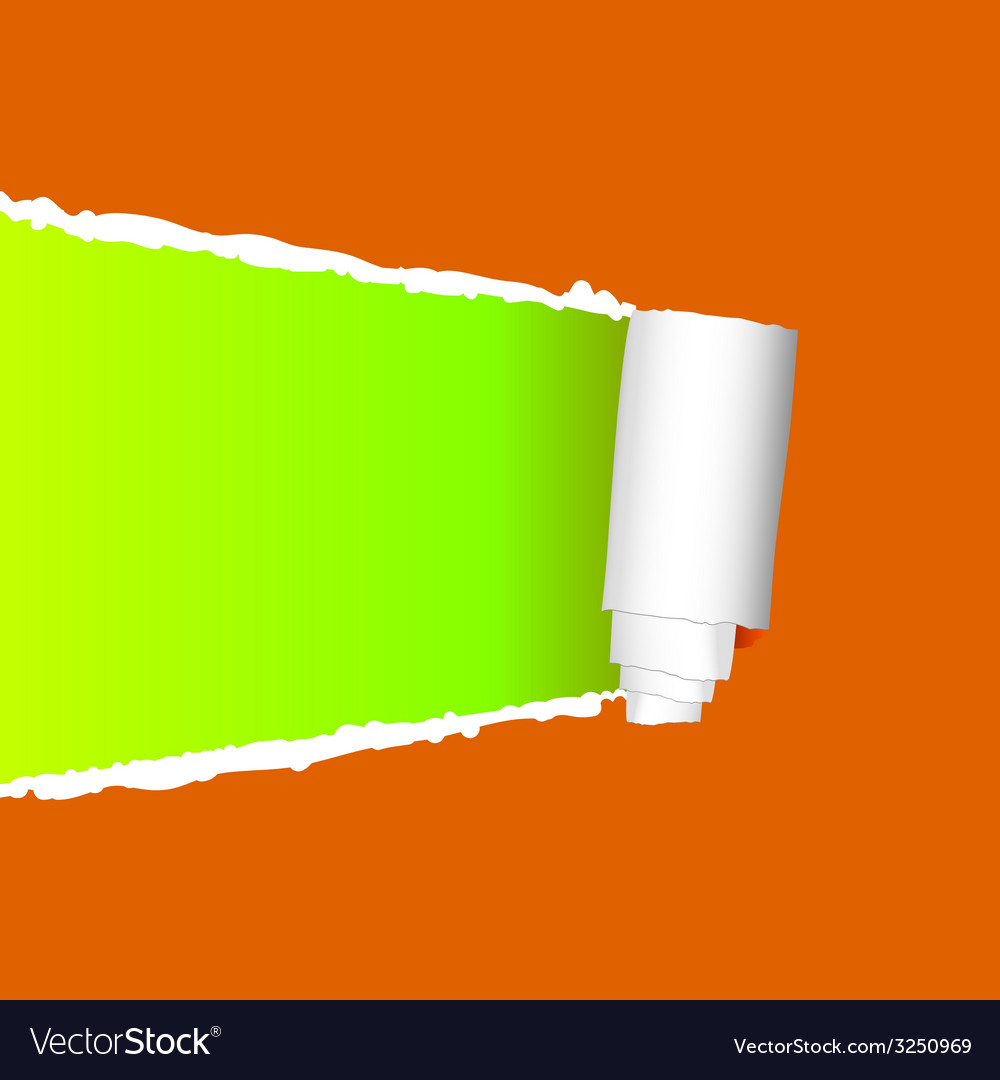 Tearing paper on orange