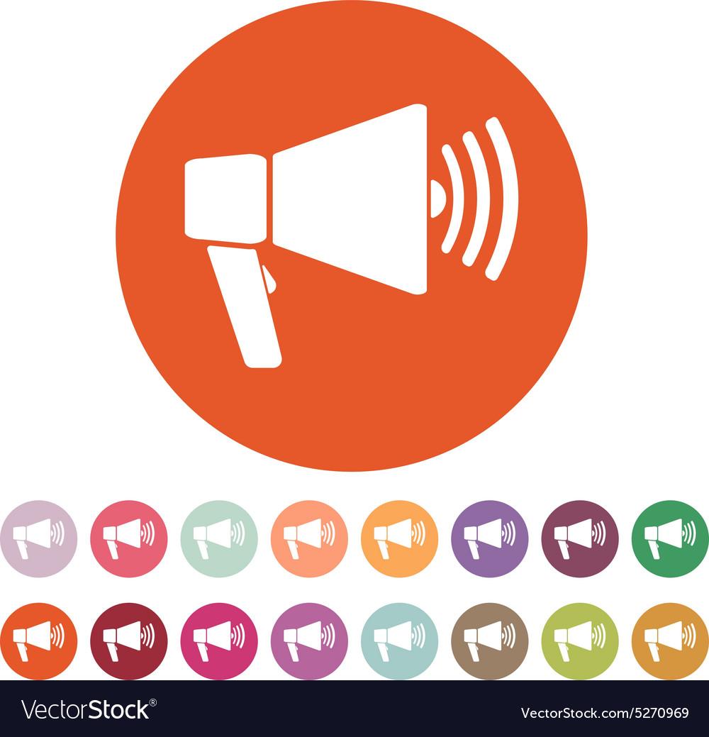 The megaphone icon bullhorn symbol flat royalty free vector the megaphone icon bullhorn symbol flat vector image publicscrutiny Gallery