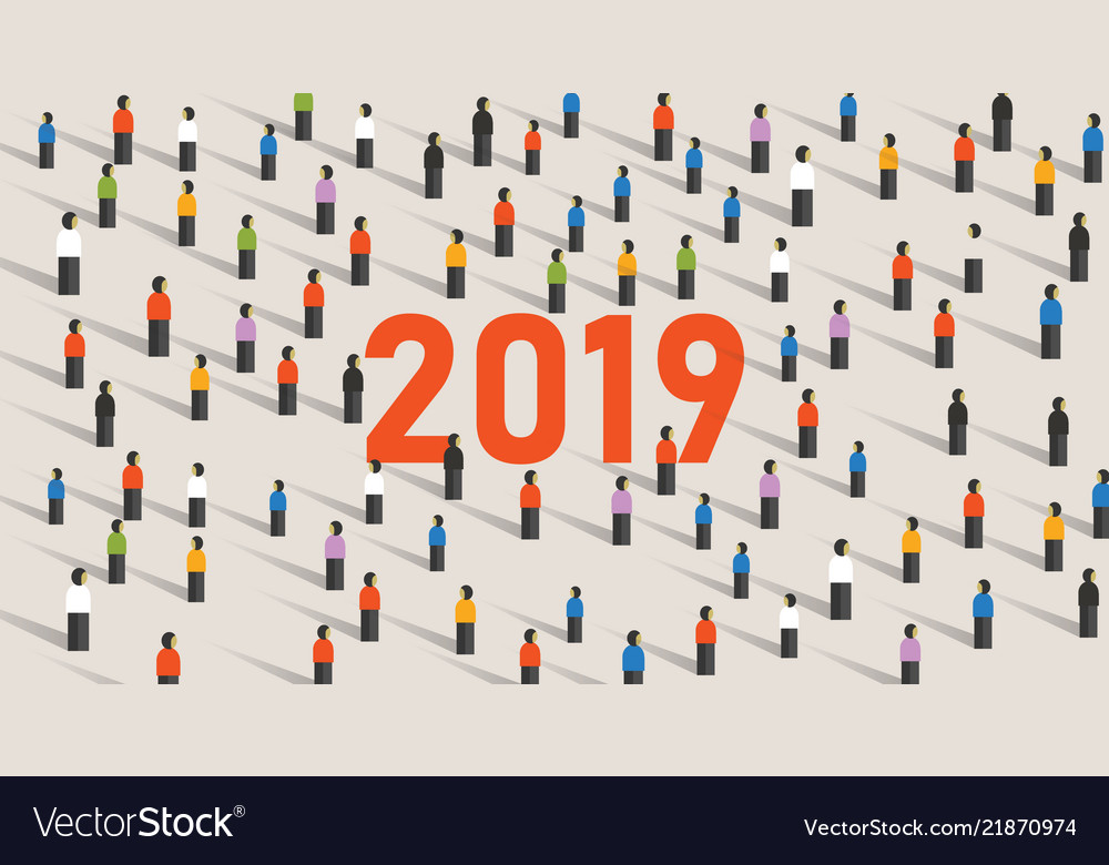 2019 background of a new year eve celebration with