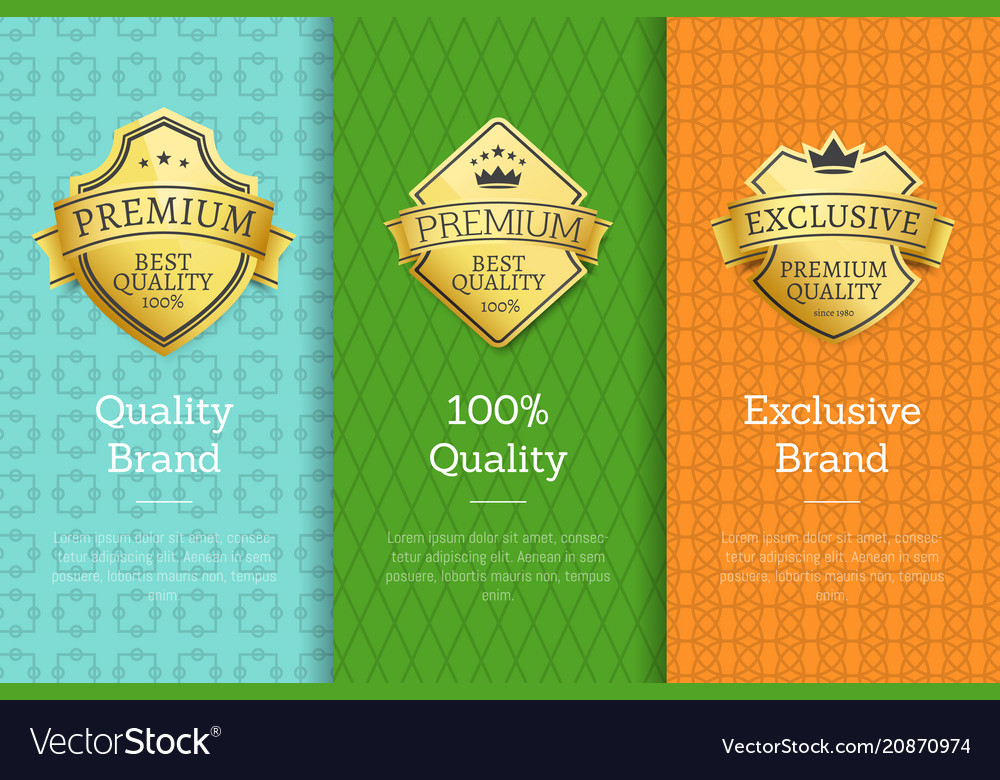 Brand 100 quality exclusive golden best labels