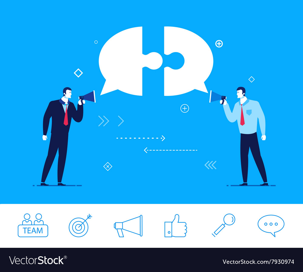 Business concept Two vector image