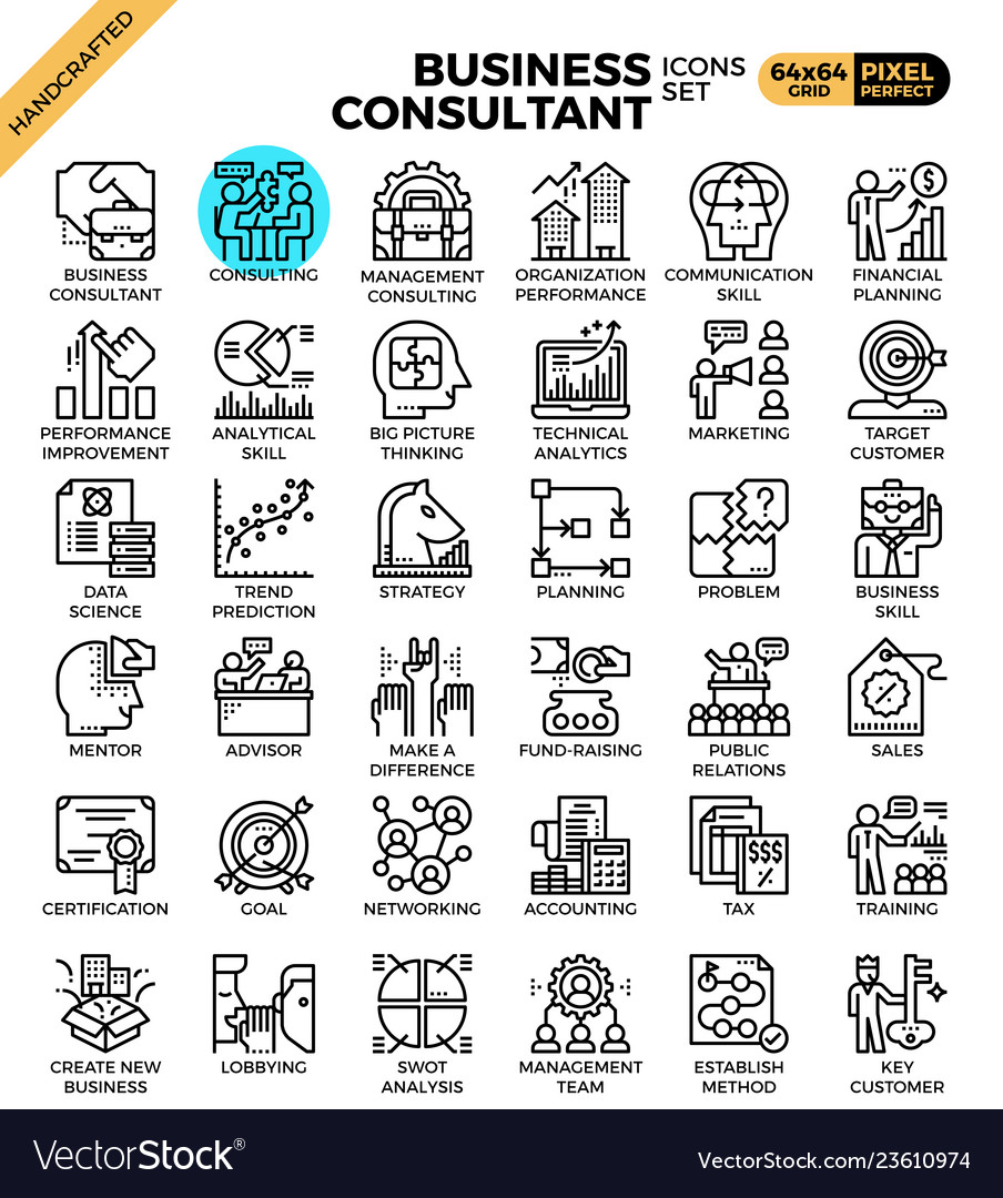 Business consultant icons