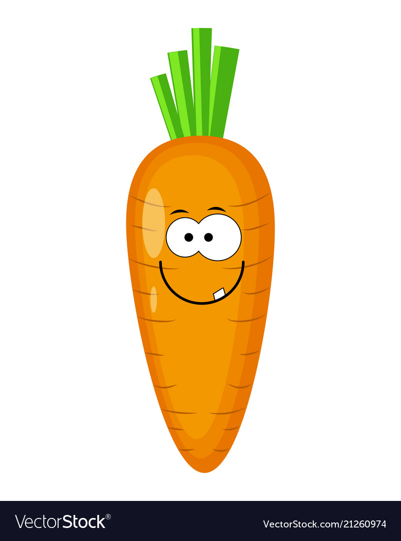 Cute Cartoon Carrot Character Royalty Free Vector Image