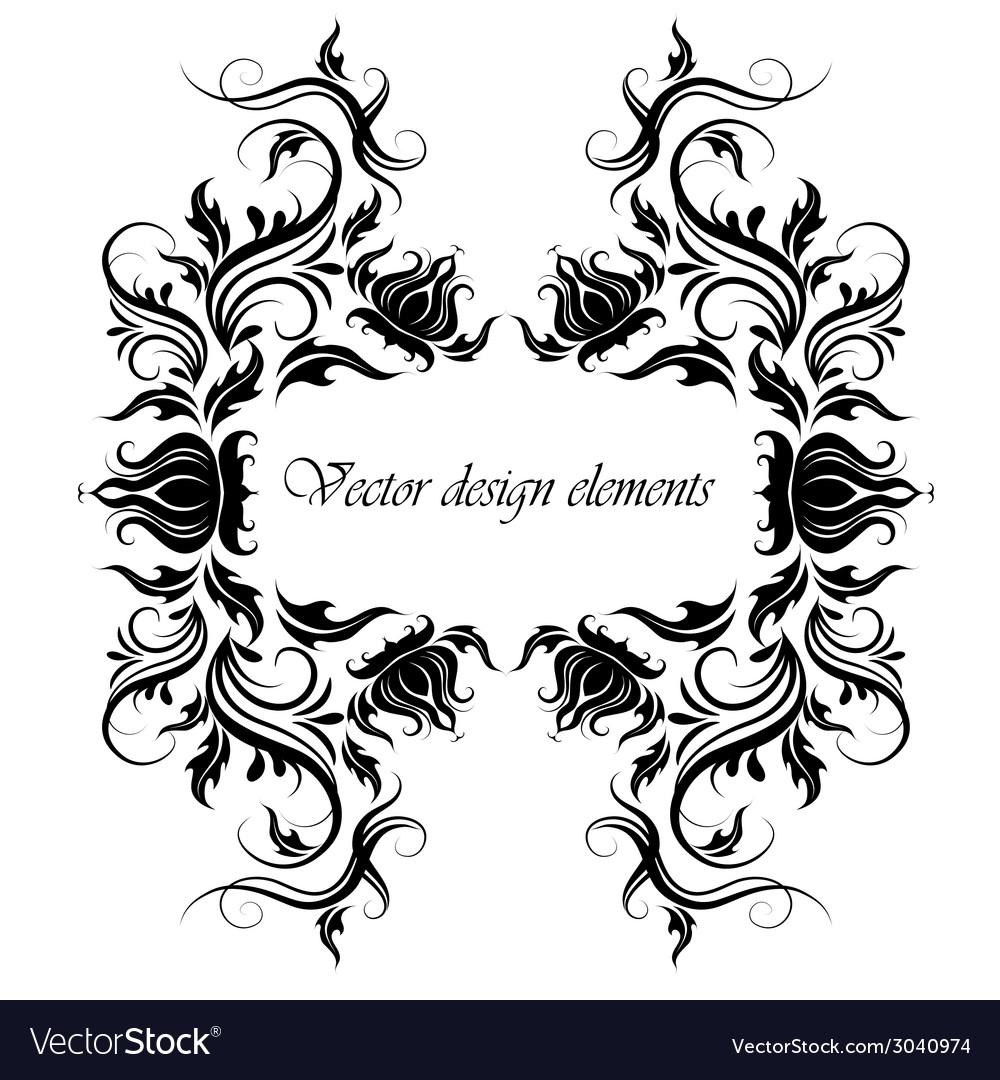 Frame of floral pattern vector image