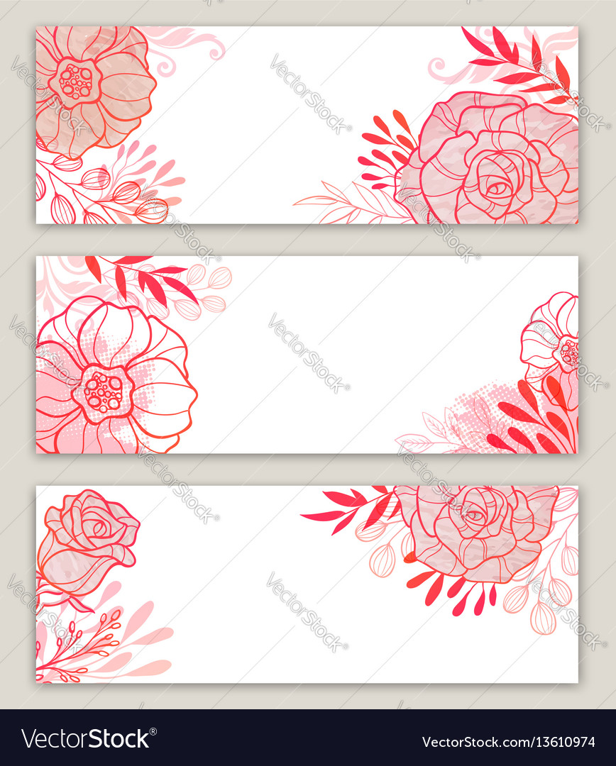 Pink floral banners
