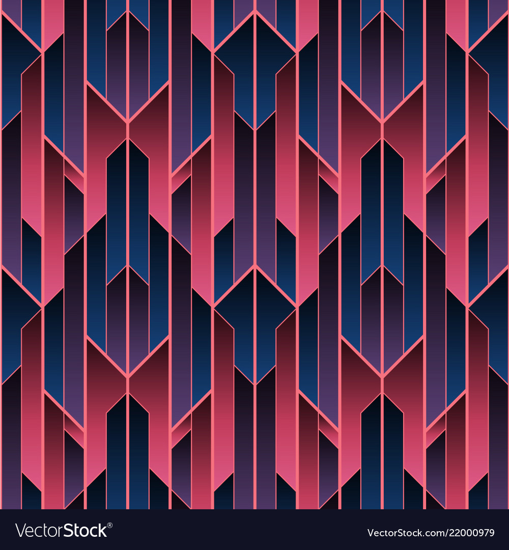 Abstract art deco color seamless pattern