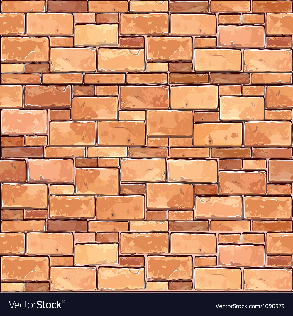 Brown brick wall seamless background