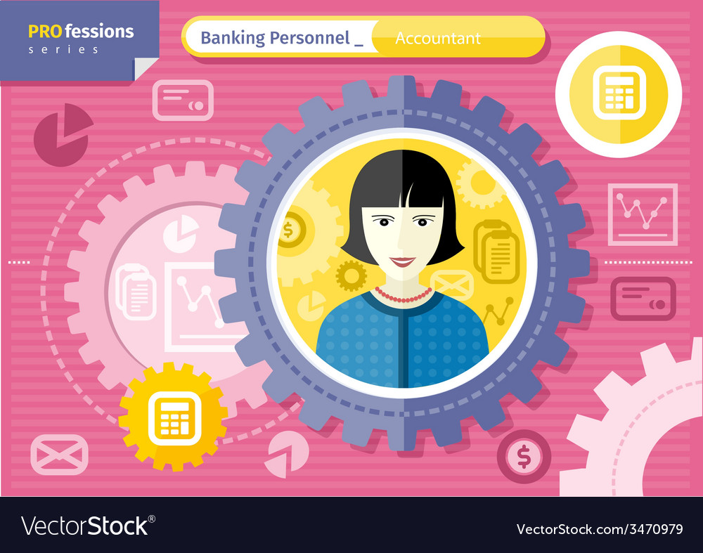 Female accountant profession concept