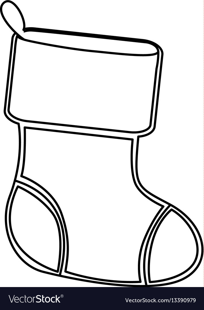 Christmas Boots Drawing.Figure Christmas Boots Icon