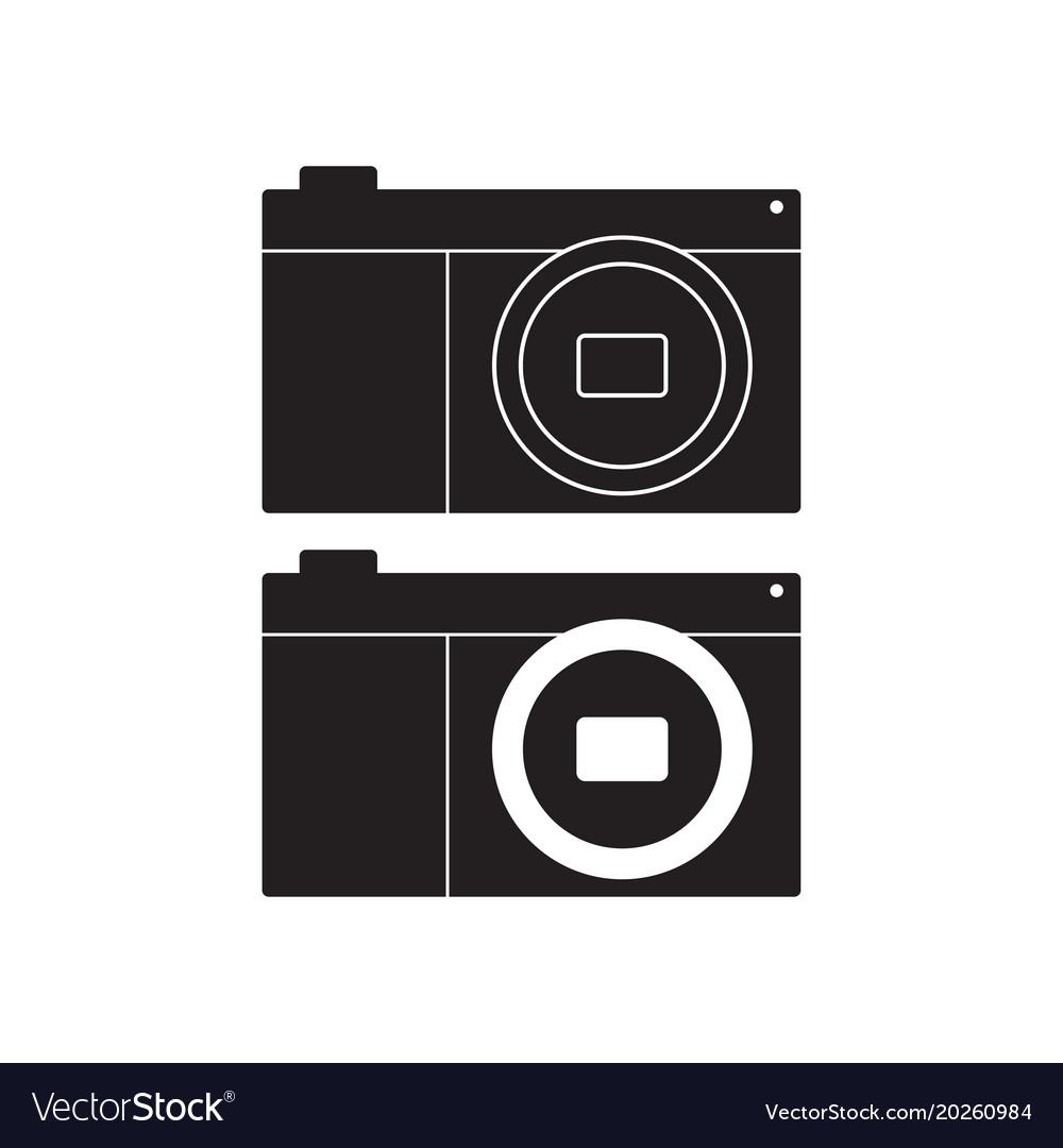 Camera icon flat sign