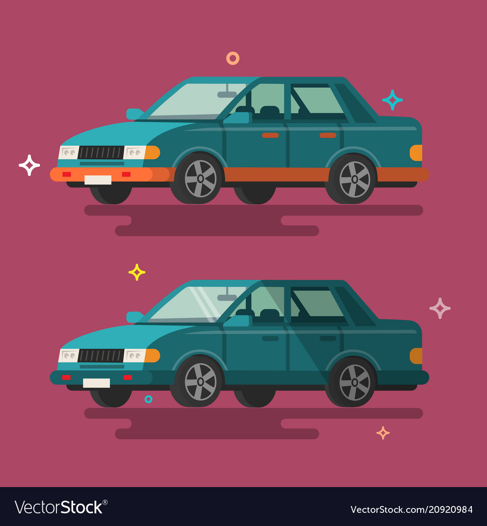 Car flat design