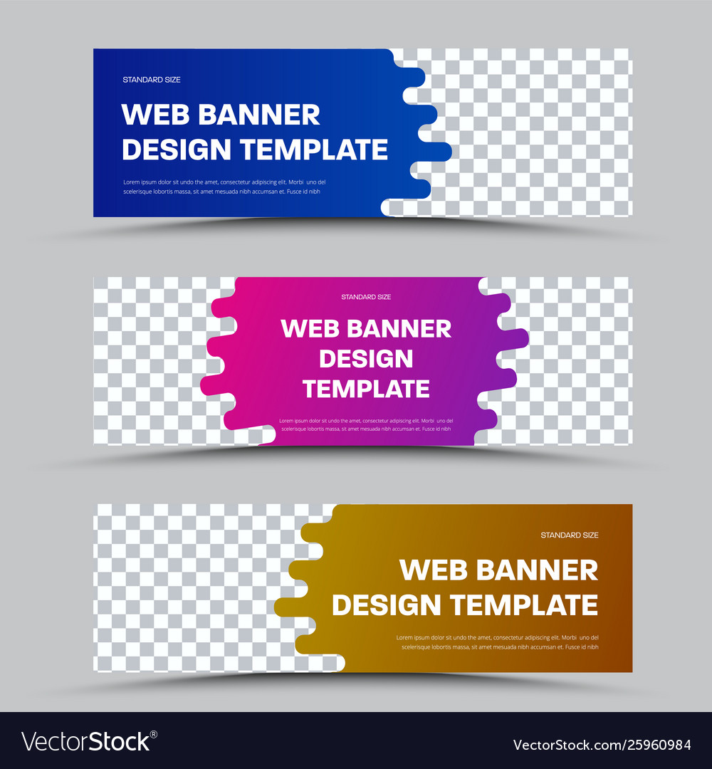 Design horizontal web banners with framed